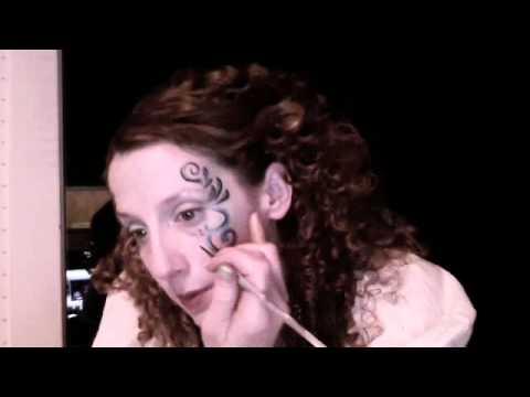 Pirate Girl Face Painting - YouTube