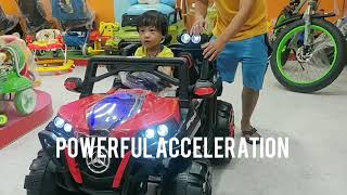 Kid enjoying jeep battery operated. Toys#