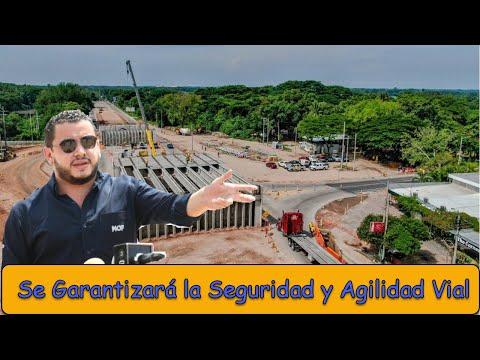 Construcción de paso a desnivel en carretera a Comalapa presenta 35 de avance