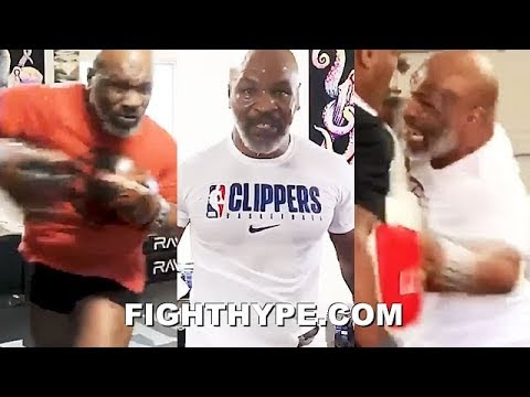 """(WOW!) """"I'M BACK"""" - MIKE TYSON SAVAGE TRAINING AT AGE 53; INCREDIBLE POWER, SPEED, & EXPLOSIVENESS"""