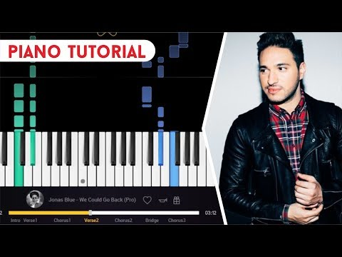 JONAS BLUE - WE COULD GO BACK PIANO TUTORIAL EASY | how to play piano song