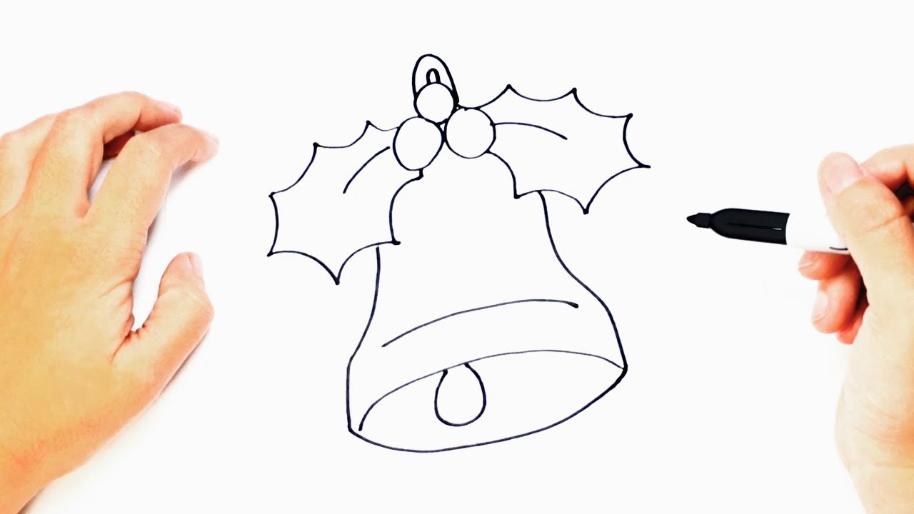 how to draw a christmas bell step by step christmas drawings - Christmas Drawings Step By Step