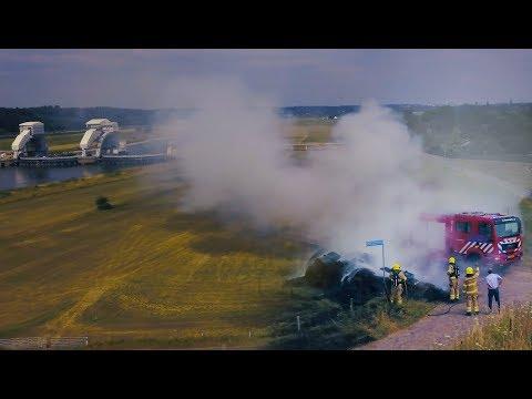 Brand Drielse Rijndijk, Driel - 4K drone video - OKMediaProducties