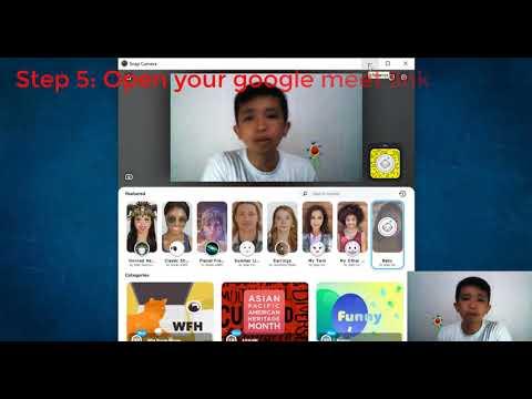 Snap Camera with Google Meet - YouTube