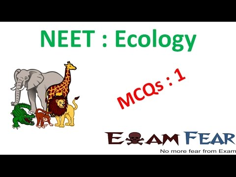 NEET Biology Ecology : Multiple Choice Previous Years Questions MCQs 1