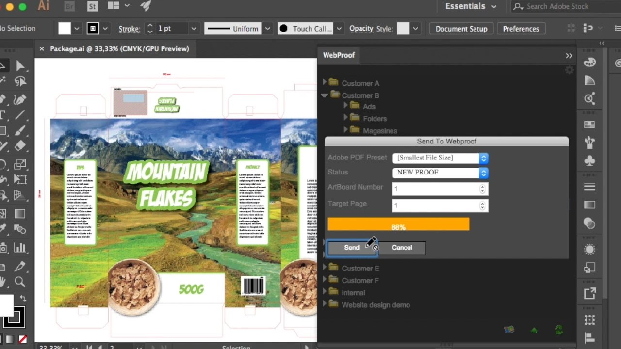 Managing Illustrator Plug-in – WebProof Support