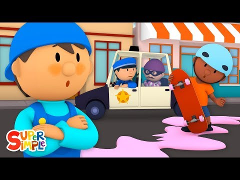 Can A Skateboard Go Through A Car Wash? | Carl's Car Wash | Cartoons For Kids