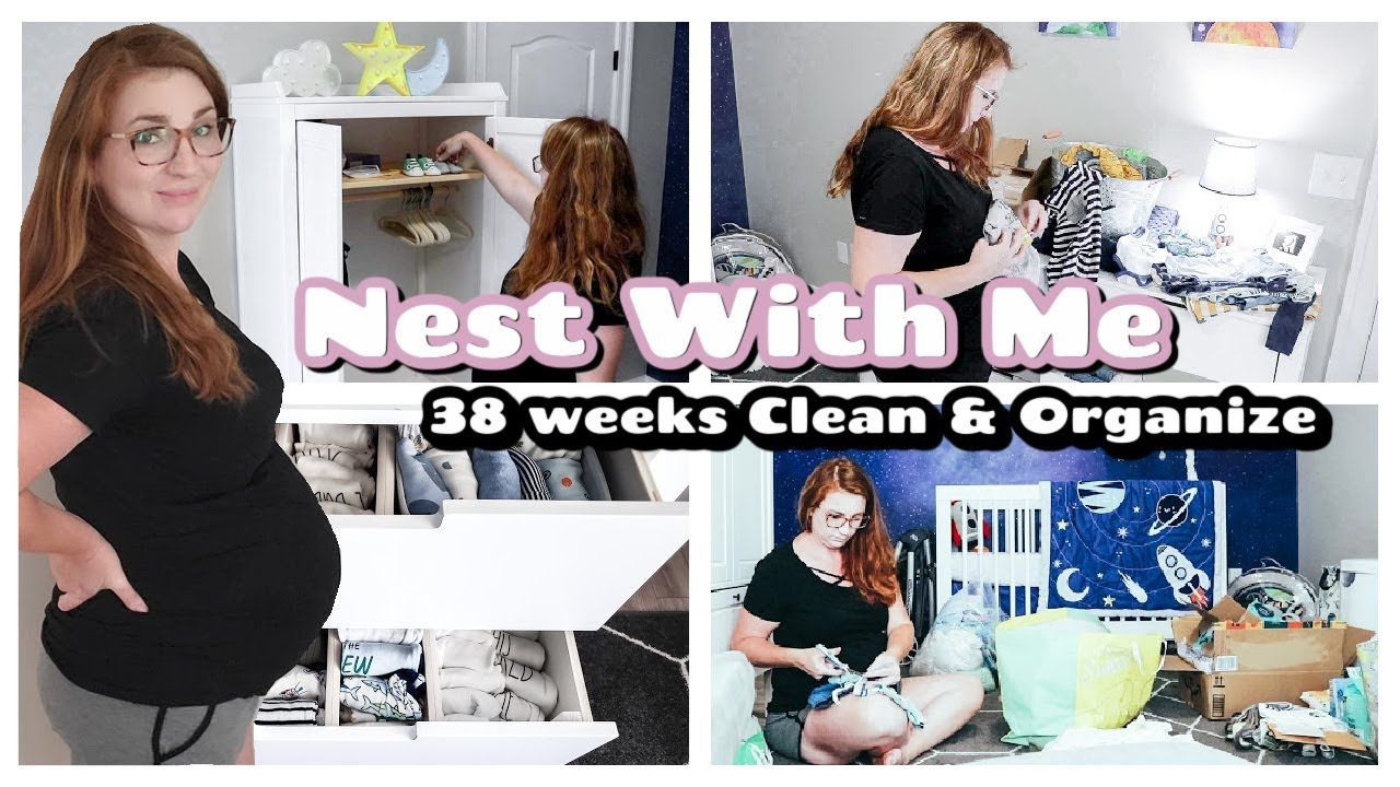 CLEAN & ORGANIZE WITH ME 2021 | NURSERY ORGANIZATION | PREPARING FOR BABY NEST WITH ME