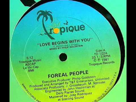 FOREAL PEOPLE - Love Begins With You (12