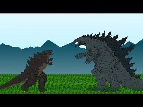 GODZILLA EARTH Vs GODZILLA | Godzilla Cartoons