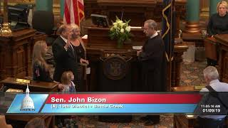Sen. Bizon sworn in as Michigan senator