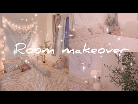 [ROOM MAKEOVER] TRANG TRÍ PHÒNG NGỦ KIỂU HÀN QUỐC GIÁ RẺ TỪ SHOPEE // KOREAN BEDROOM DECOR