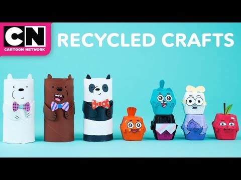 We Bare Bears | DIY Recycled Crafts | Cartoon Network | LET'S BUILD