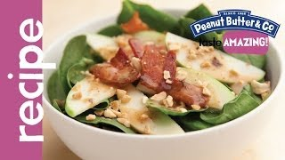 Spinach Salad With Warm Maple Peanut Butter Bacon Dressing Recipe