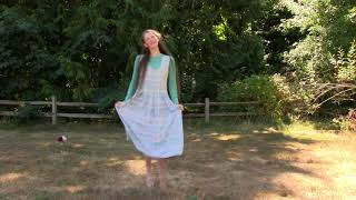 A dance with many steps! The grass is uneven, but I was able to bal...
