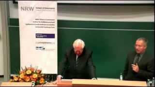 Öffentliche Vorlesung mit Prof. Dr. Bernhard Vogel an der NRW School of Governance