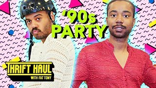 zack fox negashi armada shop for 90s party outfits thrift haul w fat tony ft patti harrison