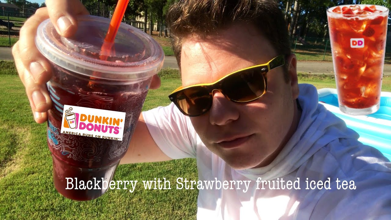 Dunkin Donuts Fruited Iced Tea Blackberry Strawberry Flavor Test