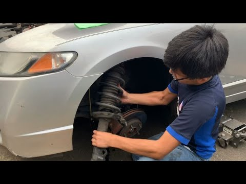 How To Remove Front Strut & Spring Assembly On Honda Civic 2006-2011 8th Gen | LH Driver Side DIY