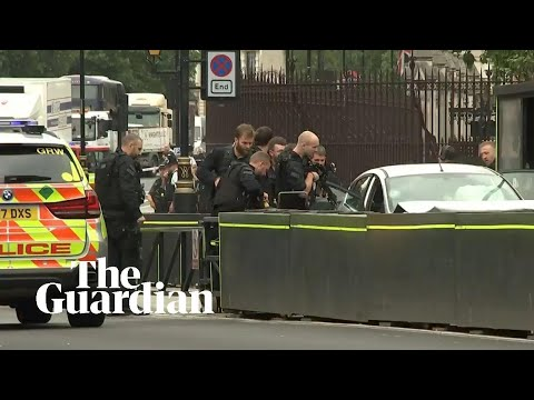 Houses of Parliament: armed police swoop on crashed car