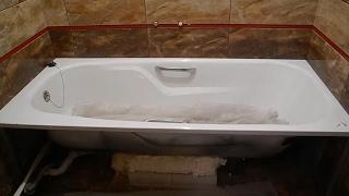 Вмуровываем ванну прямо в стены ч 2