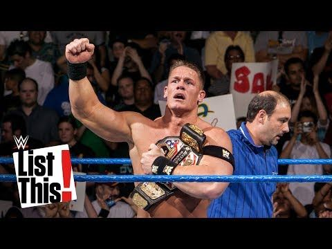 John Cena's first 5 title wins: WWE List This!