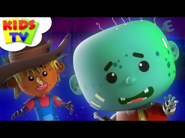 You Can't Run It's Halloween Night | Little Eddie Cartoon For Children | Scary Rhymes & Kids Songs