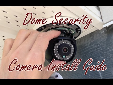 Hikvision Dome Poe Exterior Security Camera Install Setup