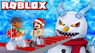 ESCAPE THE EVIL SNOWMAN OBBY IN ROBLOX