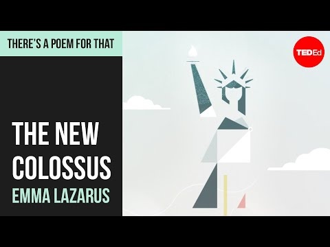 "Video image: ""New Colossus"" by Emma Lazarus"