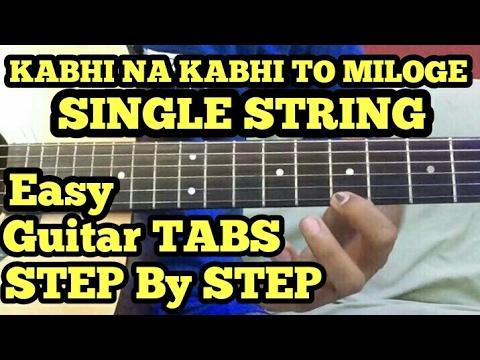 Kabhi na kabhi to miloge (Shaapit) Guitar tabs lesson in hindi ...
