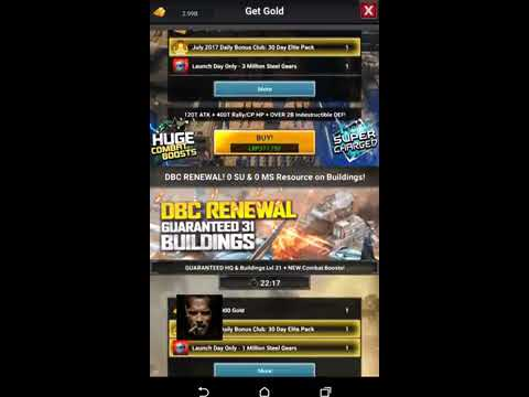 Mobile Strike -Buildings lvl 40 , Warlord gear and DBC packs !! all new updates