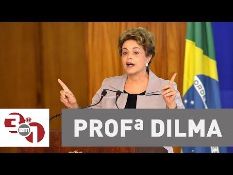 Dilma Rousseff dá aula em curso de pós-graduação sobre a Esquerda