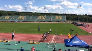 100m Finale Juv H Ian Hume 2015 Félix Goudreau Vincent Laforge