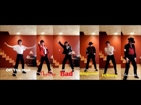 The Evolution Of Michael Jackson Dance-By Ricardo Walker Seth Shatzer MJ Impersonator
