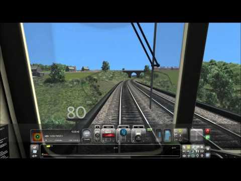 Train simulator 2015. Bishop Auckland-Durham-Bishop Auckland (5x speed) |