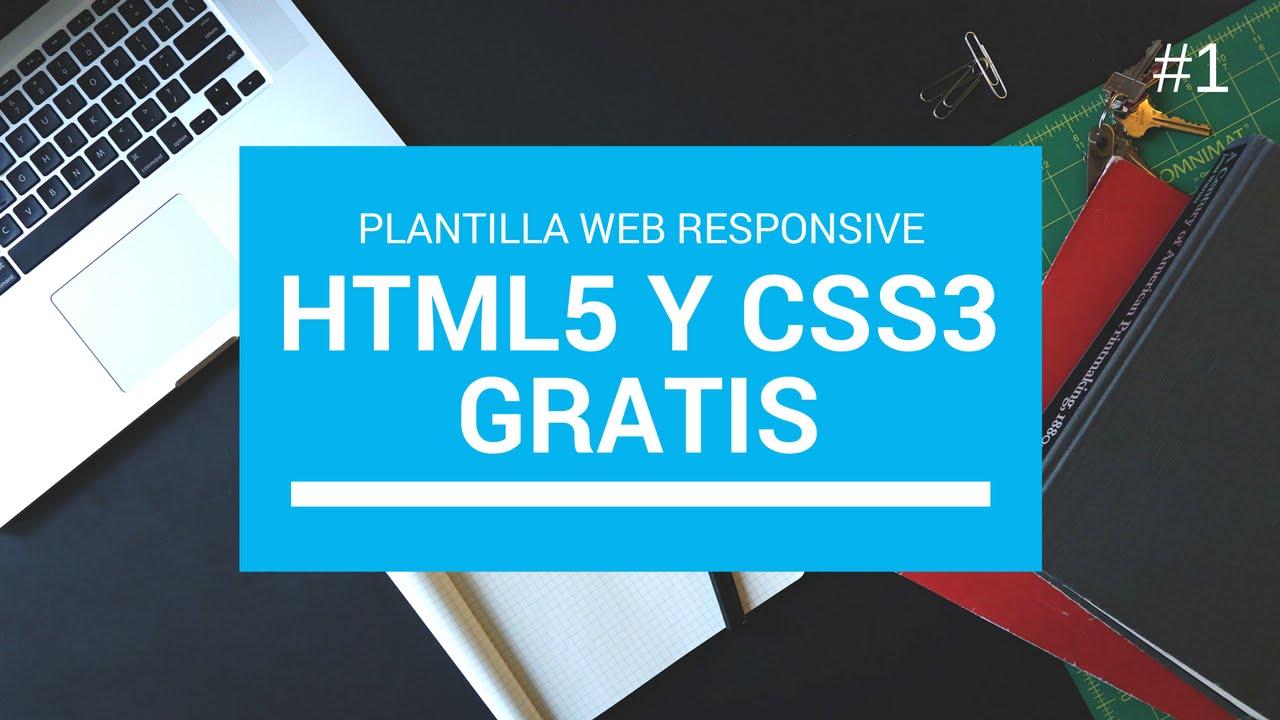 1 Descargar Plantilla web html5 y Css3 Responsive Gratis 2017 ...