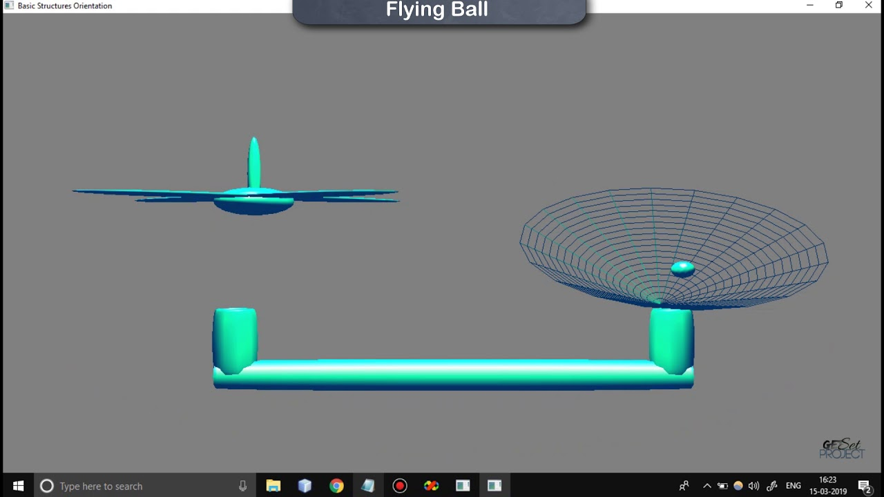 Free Flying Ball Computer Graphics Project