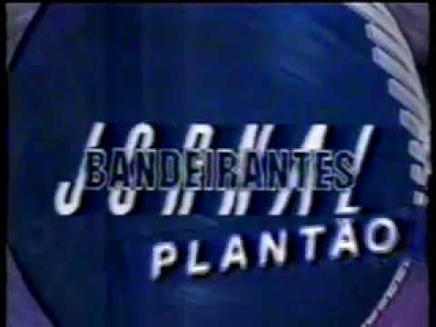 Vinheta - Plantão Jornal Bandeirantes - Ano 1990