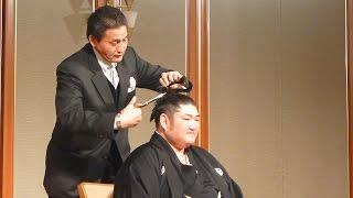 2015年2月7日(土)、琴光喜断髪式に行ってきました! 一般の方の断髪の後...