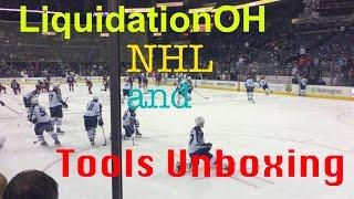 Liquidation.com Tool Lot unboxing, CBJ NHL game and Tool item reviews eBay