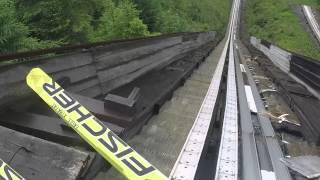 Vorokhta K-70 First jump (fall)