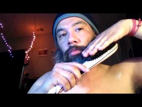 how to make your beard hair straight