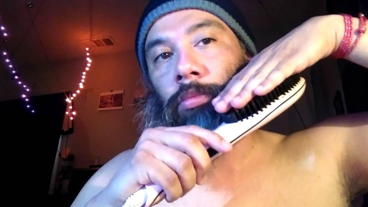 2528e971a308 Beard Hair Straightener Straighening Brush 450 Degrees HOT (01)