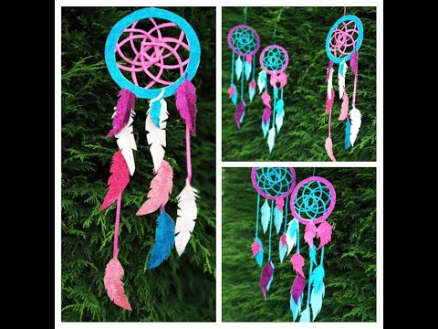 How to make Dream Catcher #papersonly  #papercraft #DreamCatcher #DIY #feathers #dreams
