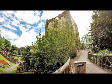 A walk in the Gardens of Guildford Castle, Surrey, England