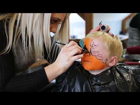 Halloween pumpkin Kids Makeup (Easy) by Tomasina