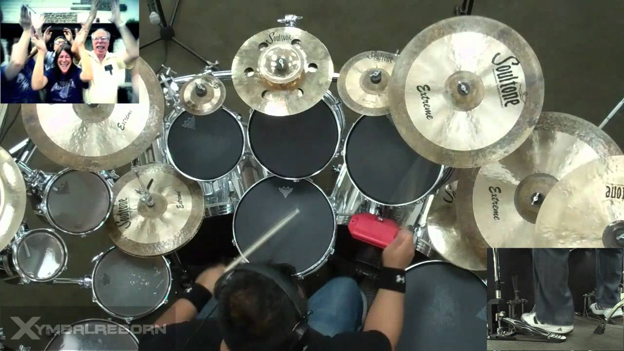 how to play bat country on drums