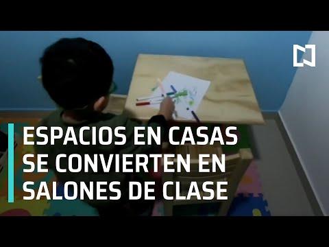 Casas se convierten en salones de clases | Papelerías en crisis por cierre de escuelas - En Punto