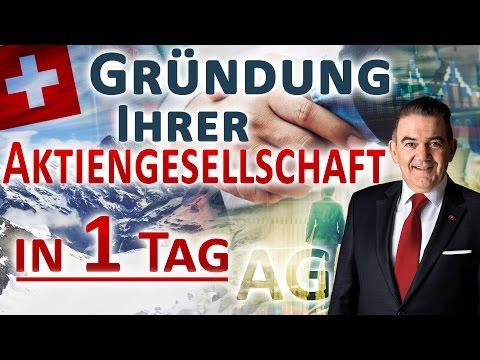 Aktiengesellschaft Gründung - AG Schweiz (Mantel) gründen in 1 Tag
